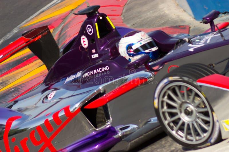 Formula E - Sam Bird - corsa vergine fotografie stock libere da diritti