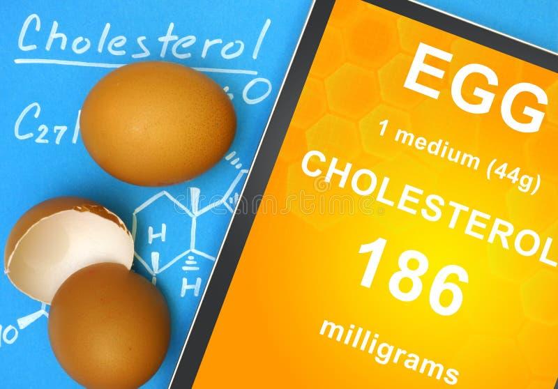 Formula ed uovo del colesterolo fotografia stock libera da diritti