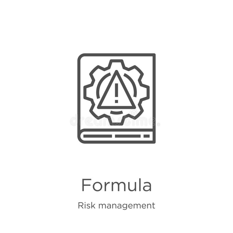 Formula icon vector from risk management collection. Thin line formula outline icon vector illustration. Outline, thin line. Formula icon. Element of risk royalty free illustration