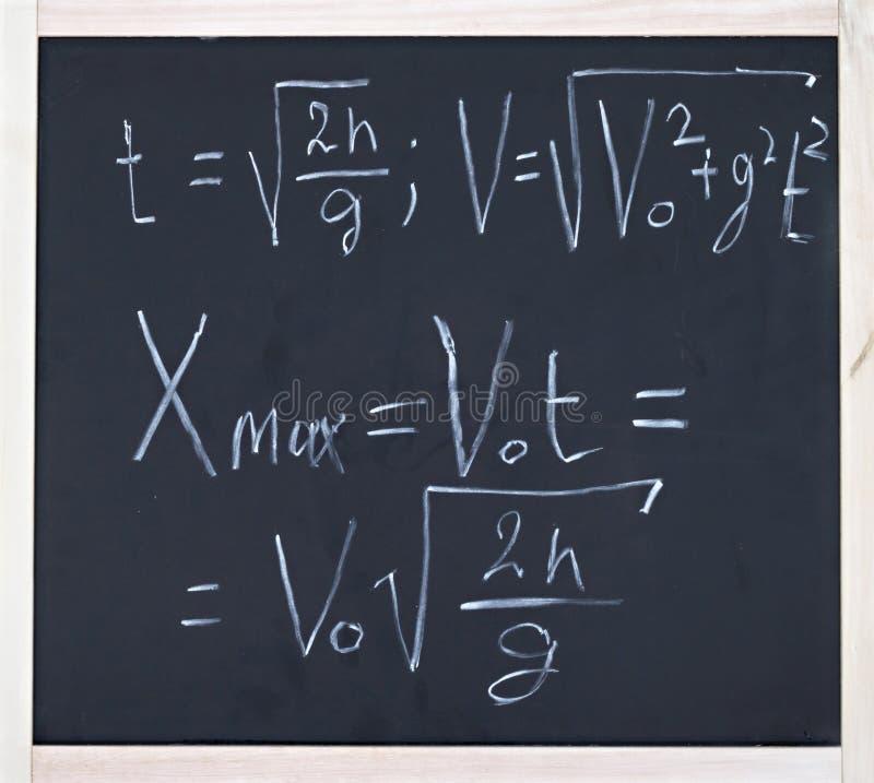 Formula of motion royalty free stock photography