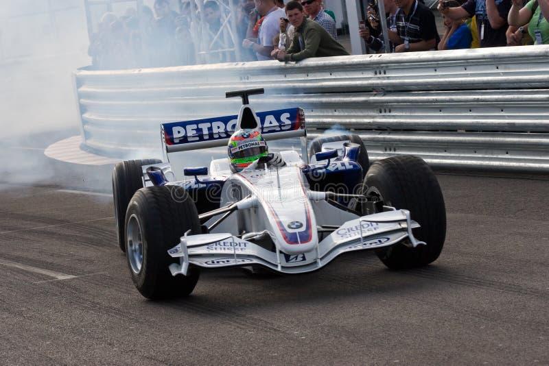 Formula One. Augustus Farfus driving a BMW Sauber Formula One car stock image