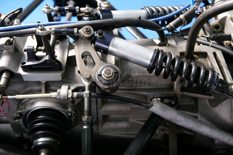 Formula one car engine. Detail stock images