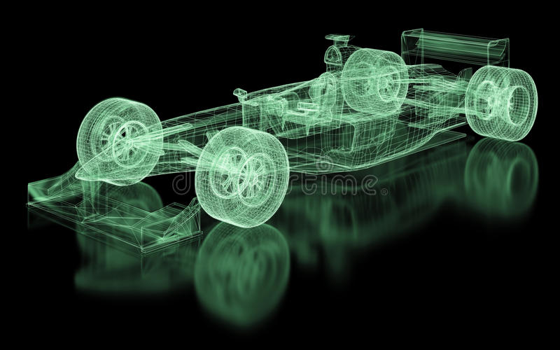 Formula One Mesh royalty free illustration