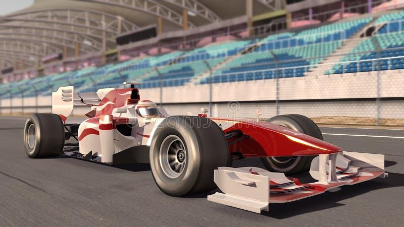 Formula one race car stock illustration