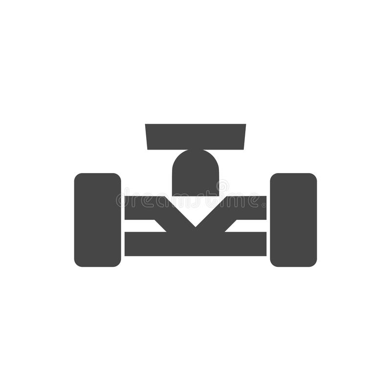 Formula One Race Car icon stock illustration