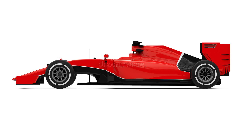 Formula One Race Car royalty free illustration