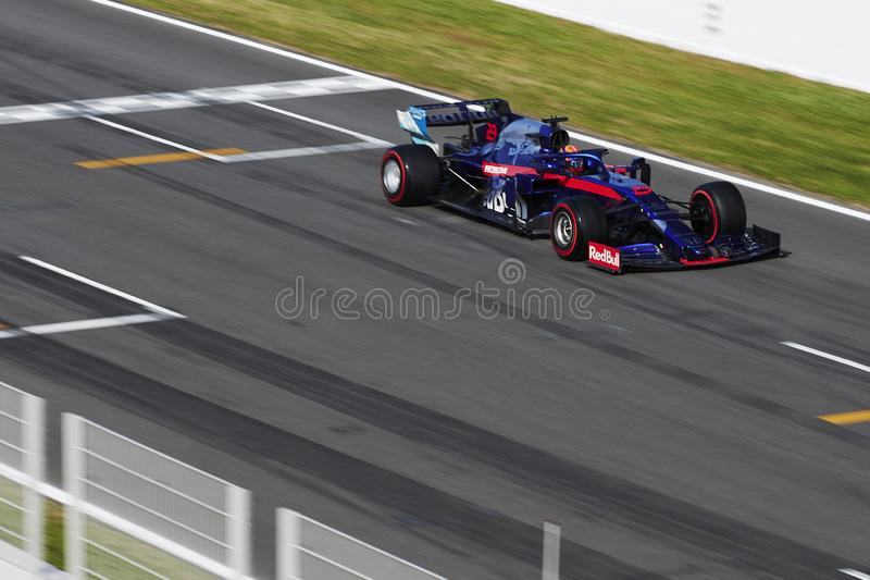 Formula One in season test stock images