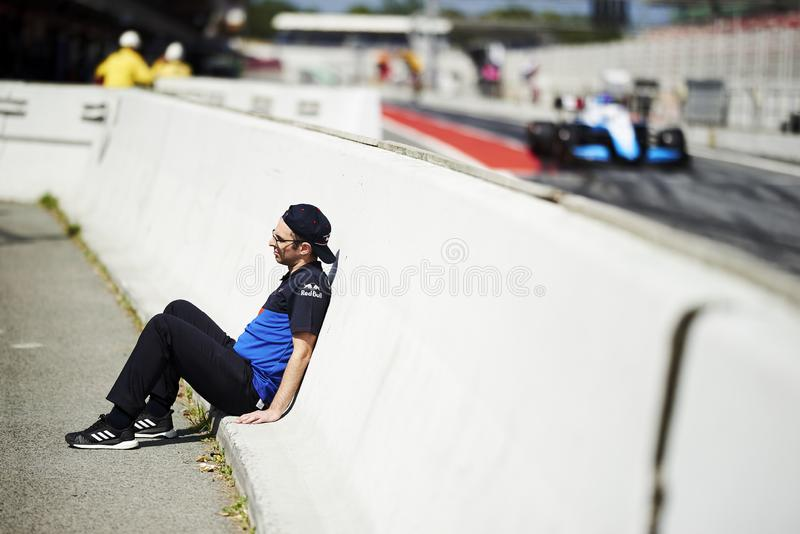 Formula One in season test stock photography