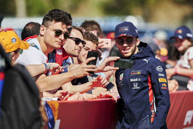 Formula One Spain Grand Prix. 12th May 2019, Circuit de Barcelona-Catalunya, Barcelona, Spain; Formula One Grand Prix of Spain, race day; Pierre Gasly of the Red stock photography