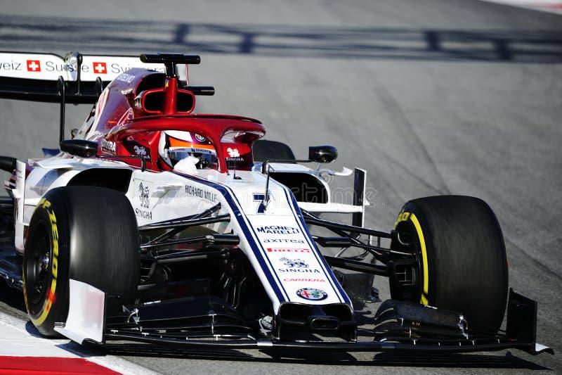 Formula One test royalty free stock image