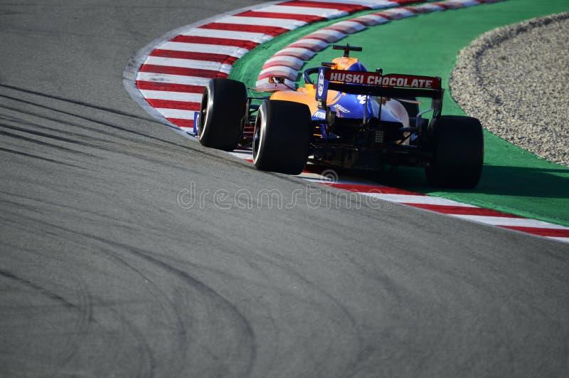 Formula One test stock photography