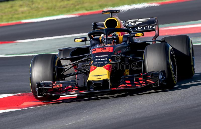 FORMULA ONE TEST DAYS 2018 - MAX VERSTAPPEN stock photography
