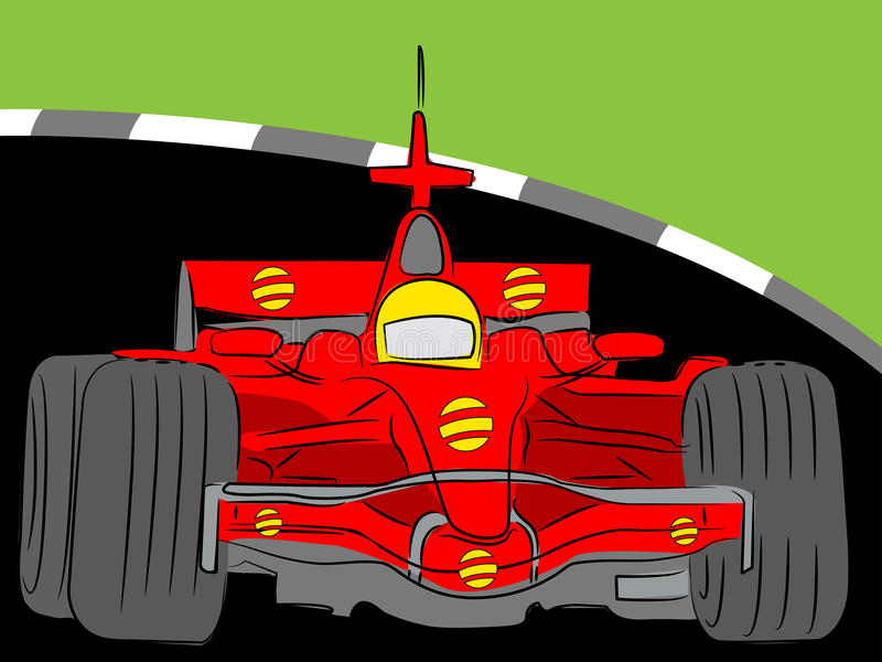 Download Formula race car stock vector. Image of angle, background - 24332088