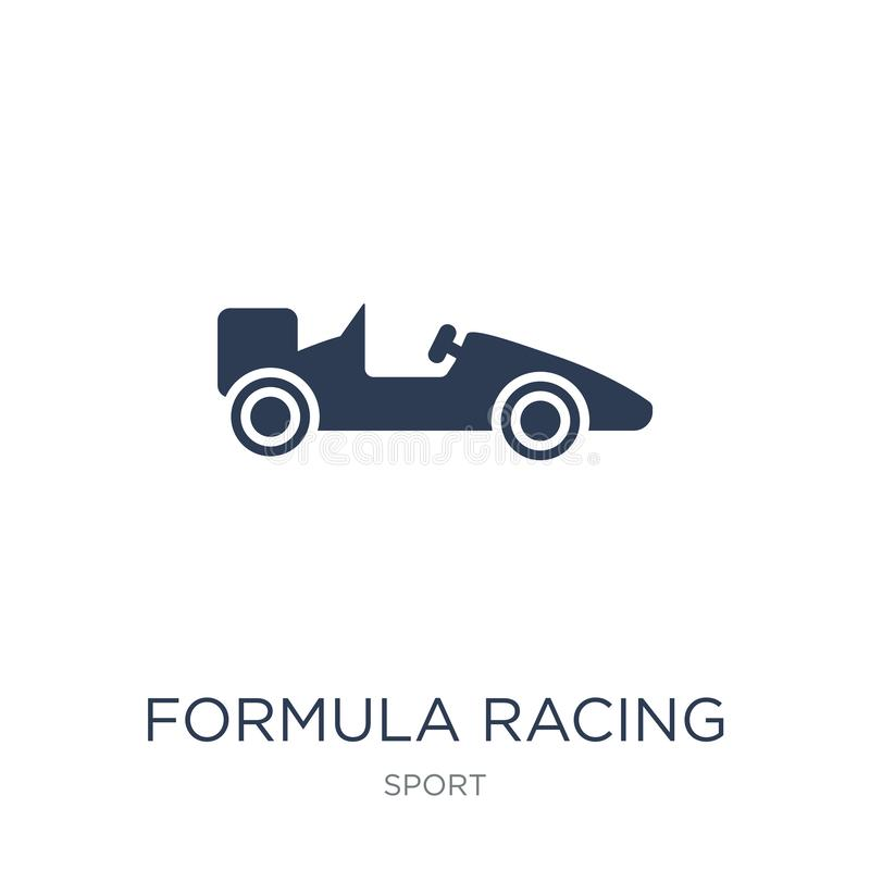 formula racing icon. Trendy flat vector formula racing icon on w royalty free illustration
