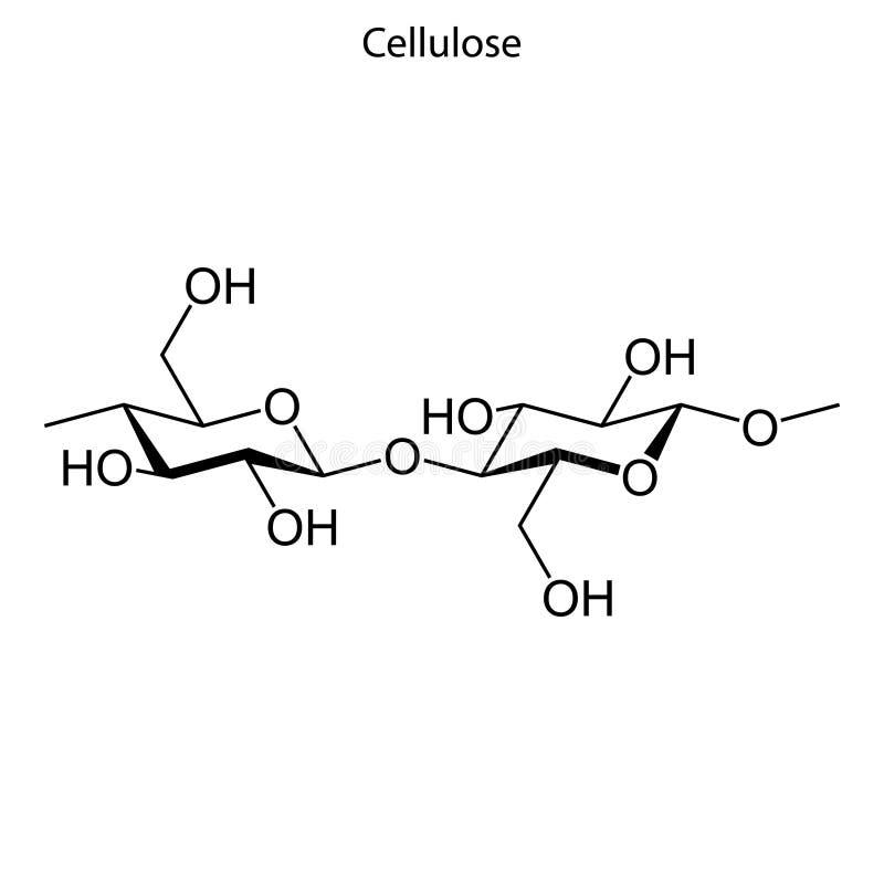 Formula scheletrica della molecola chimica illustrazione vettoriale