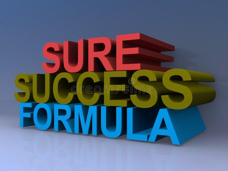 Formula sicura di successo royalty illustrazione gratis
