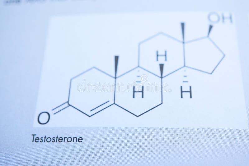 Formulación química de la testosterona fotos de archivo libres de regalías