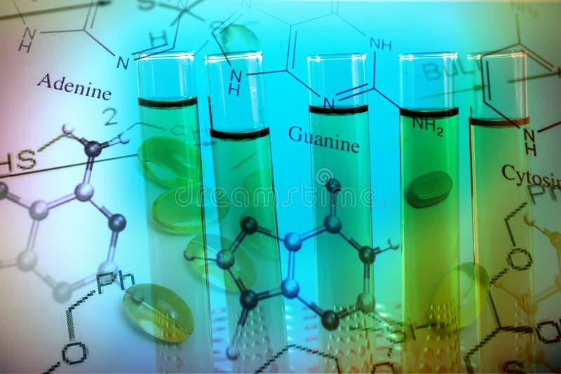 Formulación y medicinas químicas imagen de archivo libre de regalías