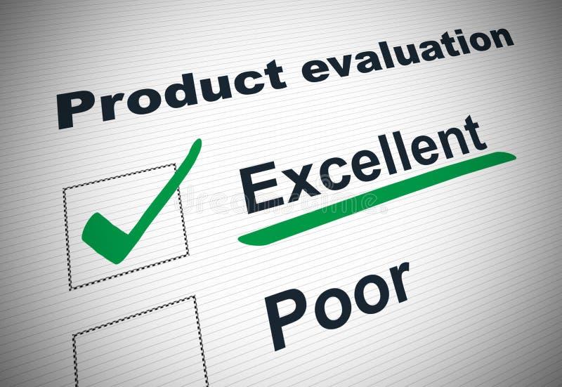 Formulaire d'évaluation de produit illustration de vecteur