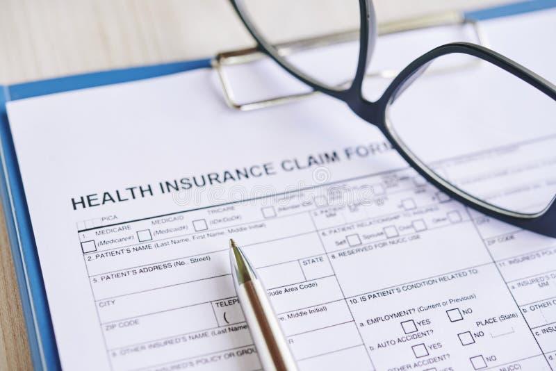 Formulaire de réclamation d'assurance image libre de droits