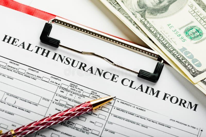 Formulario de inscripción del seguro médico imagen de archivo libre de regalías
