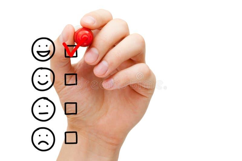 Formulario di valutazione impressionante di servizio di assistenza al cliente immagini stock