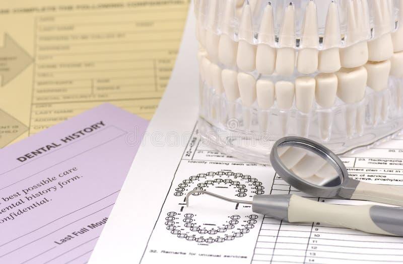 formularze dentystyczne zdjęcia royalty free