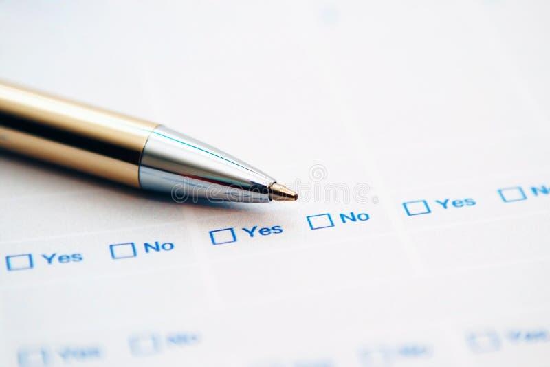 formularzowa ankieta fotografia royalty free