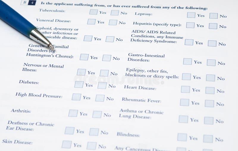 formularzowy medyczny fotografia stock