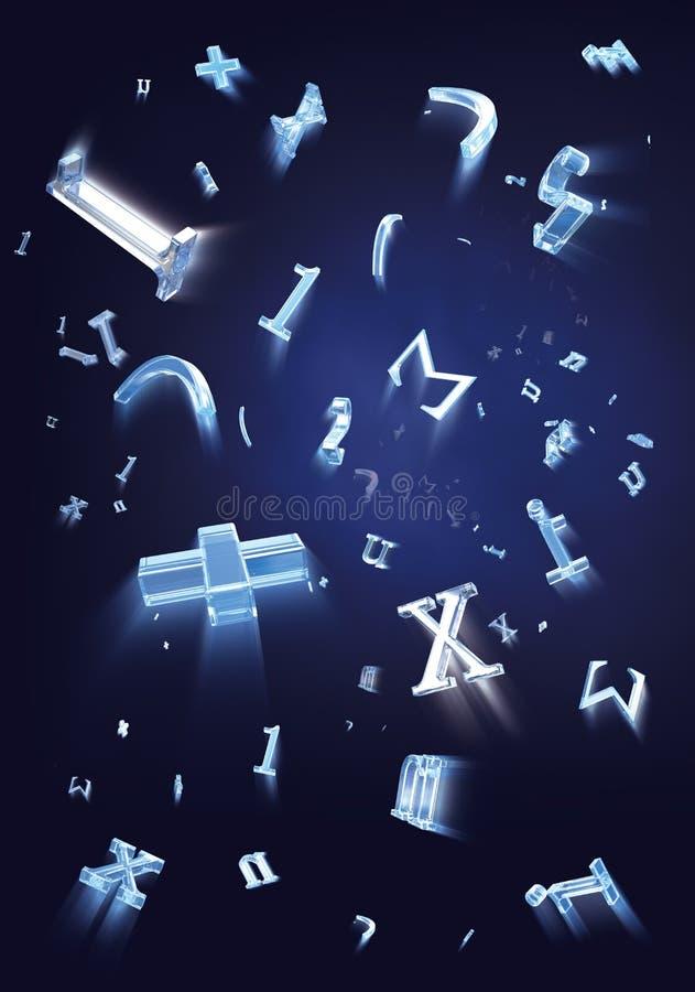 Formulas particles stock images