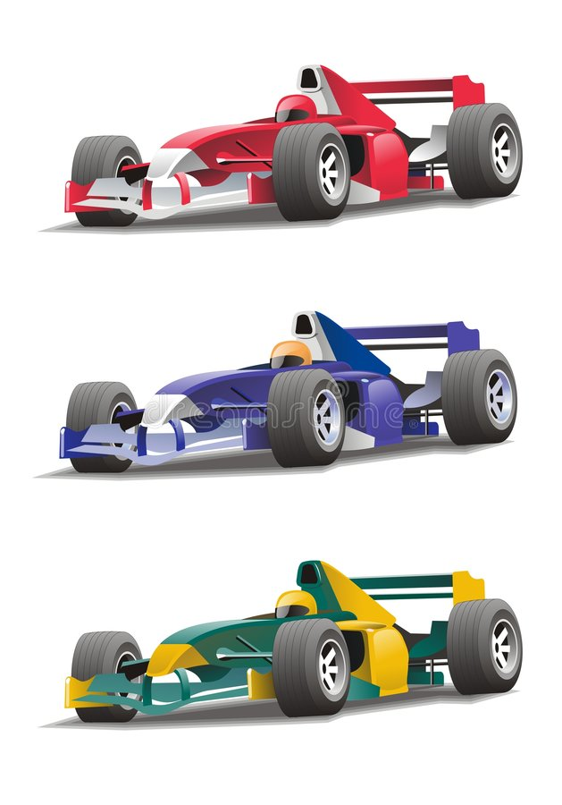 Formule 1 illustration stock