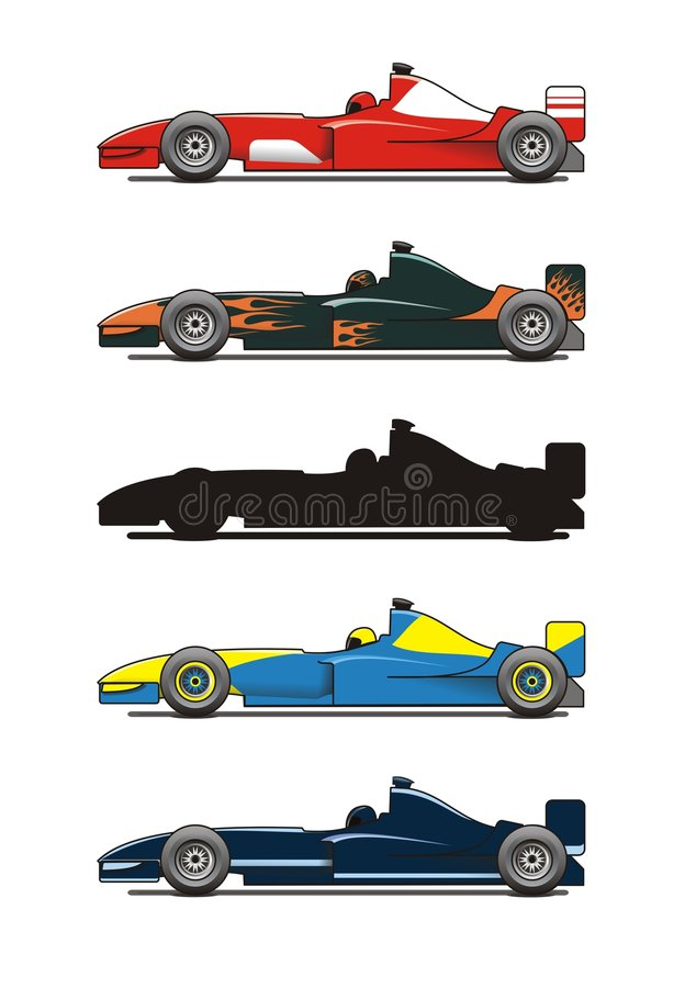Formule 1 illustration libre de droits