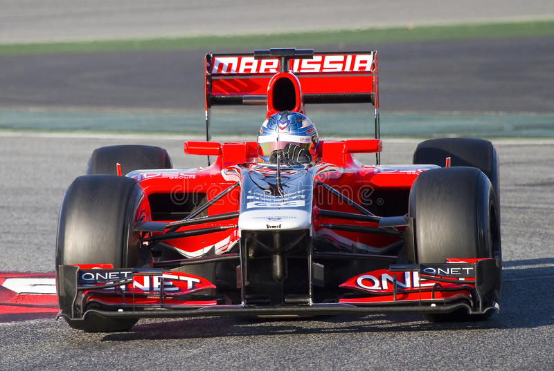 Formule 1 - Charles Pic royalty-vrije stock afbeelding