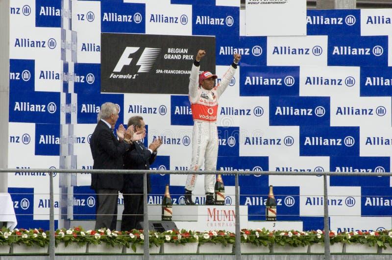 Formule 1 de Winnaars van het Ras royalty-vrije stock foto