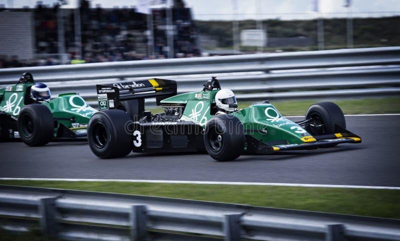 Formule 1 het ras van de motorspeedwaybaan stock afbeelding