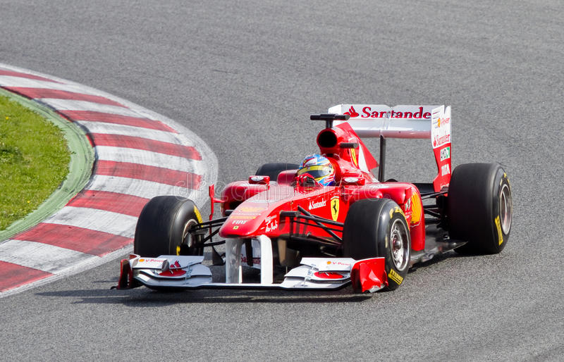Formule 1 (Prix grand espagnol) de Ferrari photographie stock libre de droits
