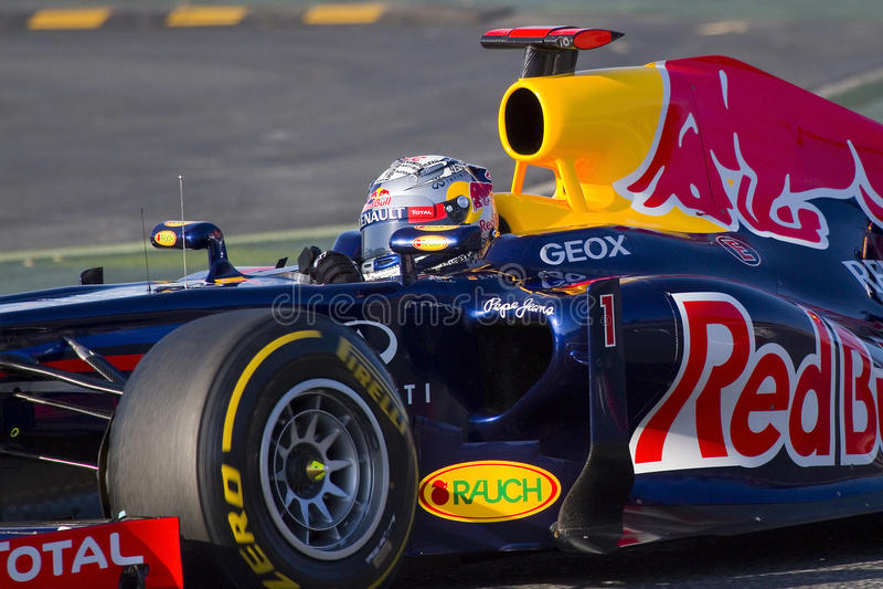 Formule 1 - Sebastian Vettel photographie stock libre de droits