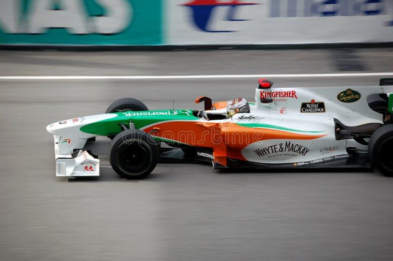 Formule 1 Sepang 2010 - Kracht India Mercedes stock foto's