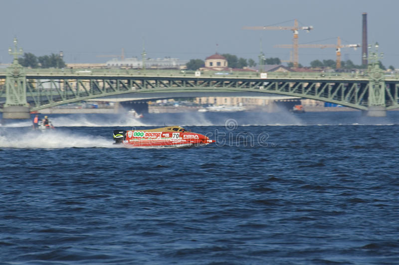 Formule 1 sur l'eau, généraliste Russie image stock