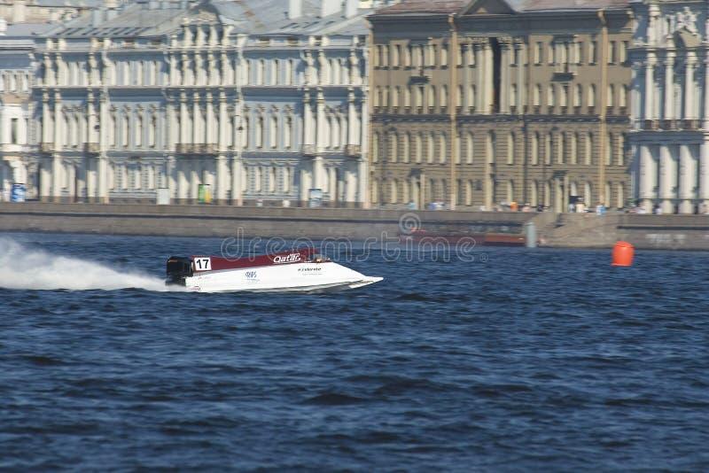 Formule 1 sur l'eau. Généraliste Russie photo libre de droits