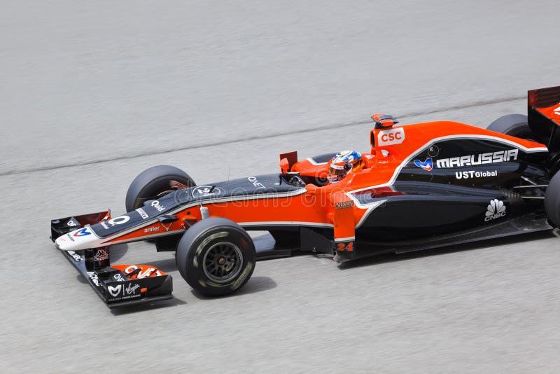 Formule 1, Timo Glock, équipe Marussia photos libres de droits