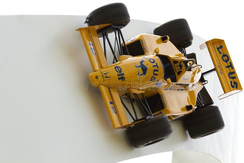 Formule 1 van Lotus raceauto stock afbeeldingen