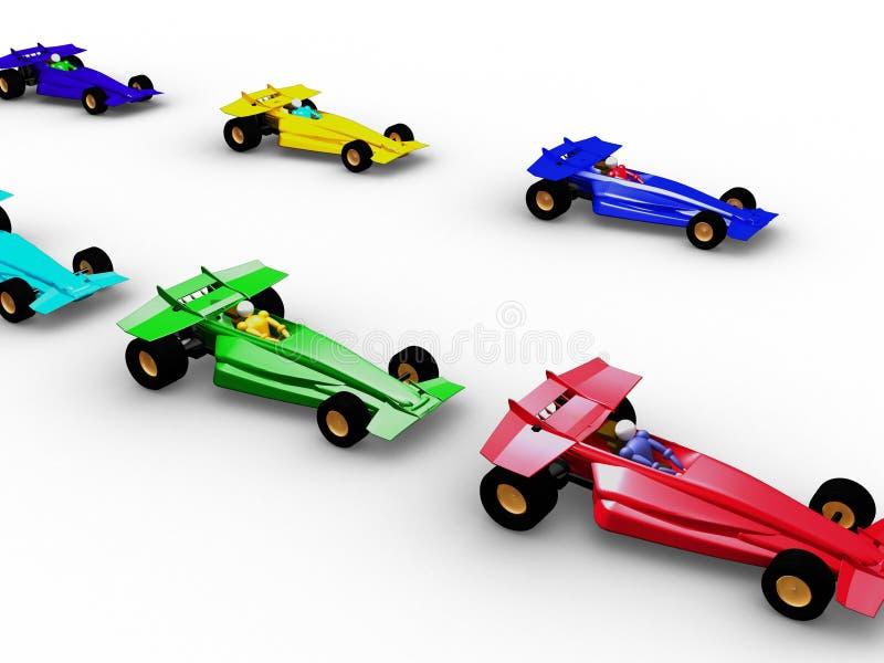Formule 1 vol. 2 illustration de vecteur