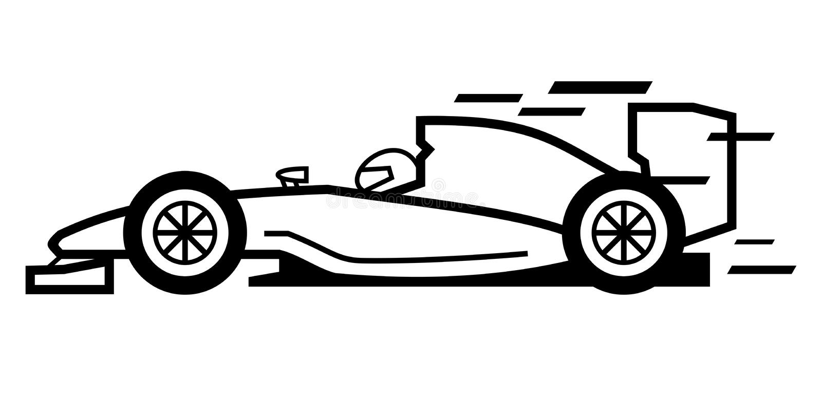 Formule 1 illustration de vecteur