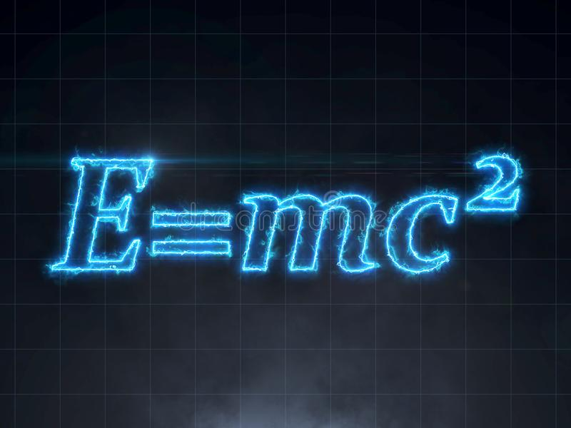 Formule d'Einstein - théorie de la relativité E=mc2 illustration stock