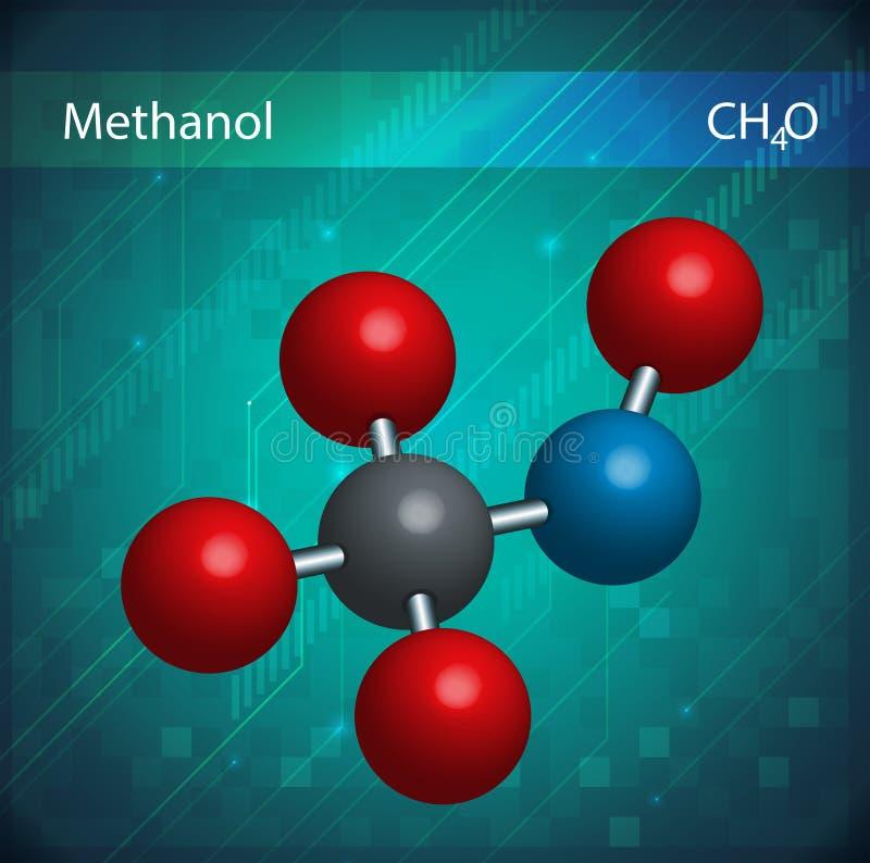 Formule de méthanol illustration libre de droits