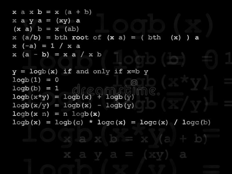 Formule de mathématiques illustration stock