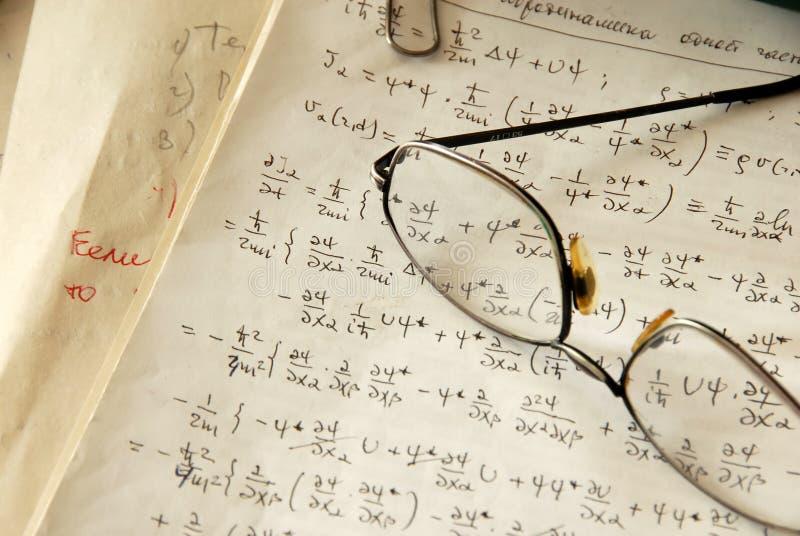 Formule di fisica fotografie stock libere da diritti
