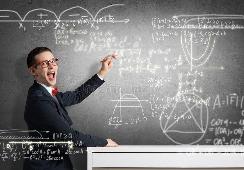 Formule di scienza del disegno dello studente immagini stock