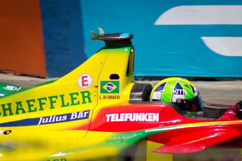 Formule E - Leo Di Grassi - Audi Sport ABT royalty-vrije stock foto